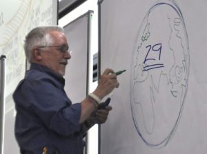 DavidDrawingEarth - The Power of the Pen: At EuViz Berlin